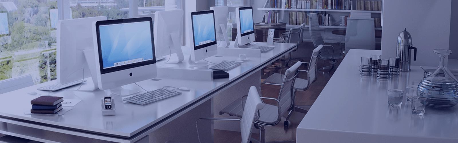office, computer, desk, openspace